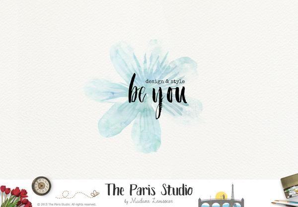 Watercolor Flower Logo: Pay As You Go Custom Logo Design