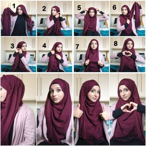 ... Hijab style on Pinterest | Square hijab tutorial, Hashtag hijab and