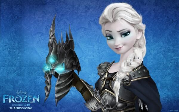 Frozen meets World of Warcraft: Wrath of the Lich King #Frozen #WoW #WotLK Haha this is to awesome :D