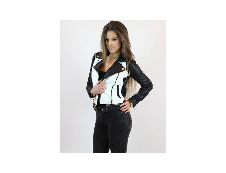 Geacă Biker Piele Ecologică www.famevogue.ro  #geaca #moda #tendinte #trends #jacket #style #fashion