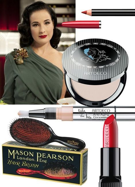 dita von teese must have beauty products makeup art deco copy