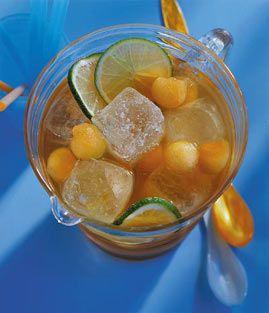 Minz-Melonen-Eistee - Erfrischungsgetränke für den Sommer - [LIVING AT HOME]