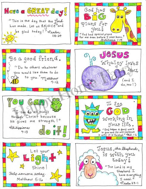 FREE Printable Inspirational Lunch Box Notes   Happy Home Fairy