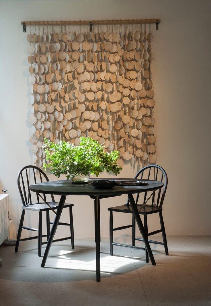 Ceramic wall hanging white discs fair ceramic wall