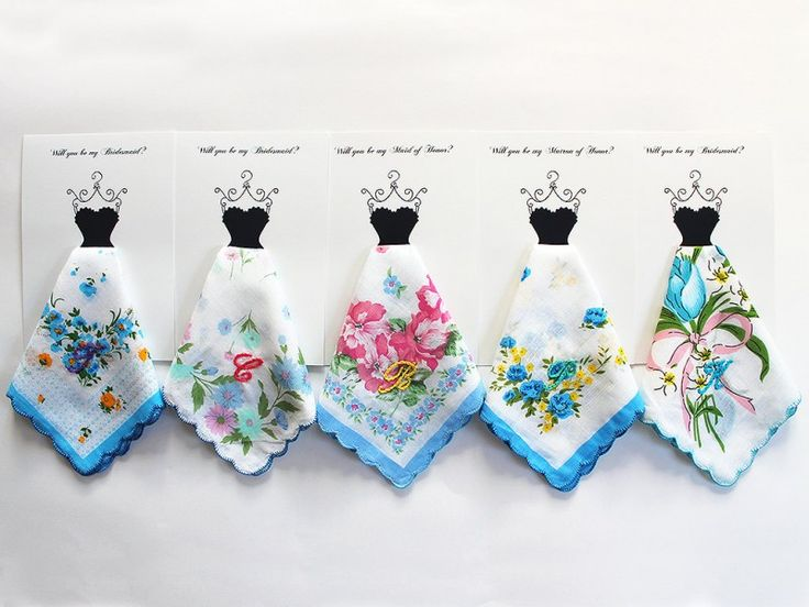 personalized hankies bridesmaids - of course i love this.