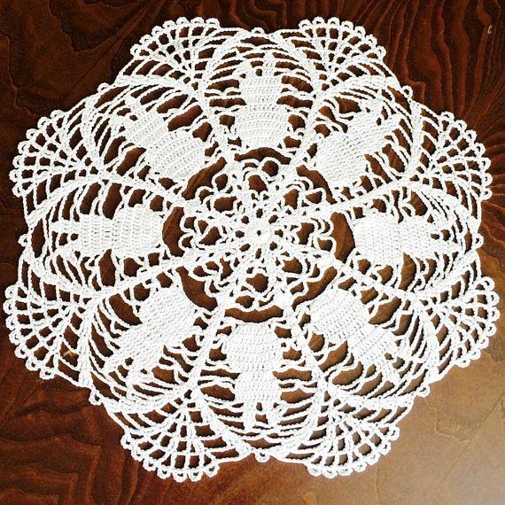 Easter White Doily crochet Crochet doily Home decor