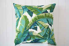 Outdoor Green and Turquoise Tropical Palm Leave 45cm Cushion/Throw Cushion Cover