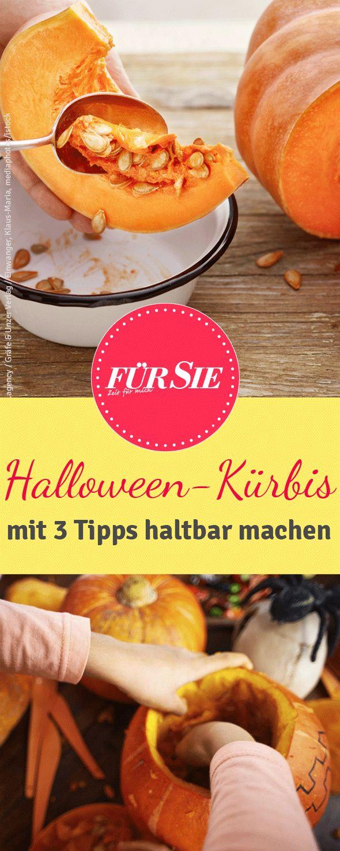 Sobald der Halloween-Kürbis angeschnitten ist, verliert er schnell an Haltbarkeit. Mit unseren drei Tipps machen Sie Ihren Kürbis haltbarer als je zuvor.