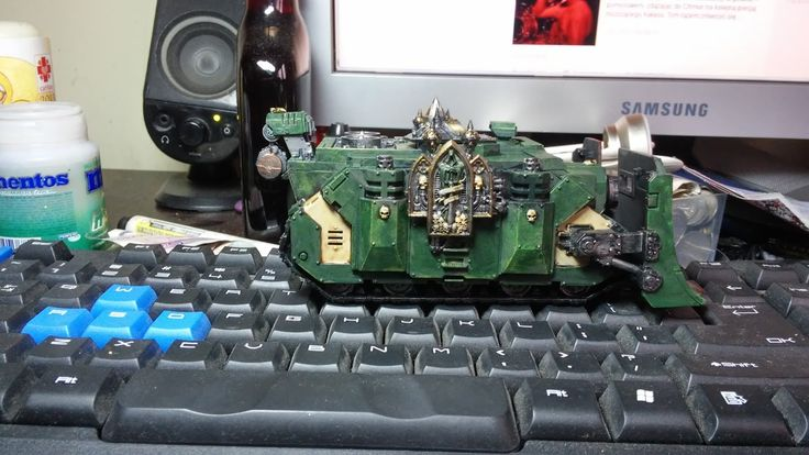 crusade against great beasts: Dark Angels Vindicator. Part of Hammer of Caliban formation.