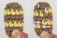 Unir colores en tejido circular sin saltos.