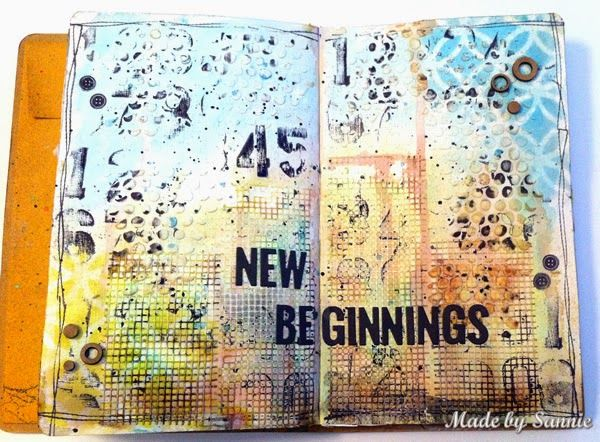 Bold number stamping by Sannie for the Simon Says stamp Monday challenge (Bold stamping) Stamptember 2014