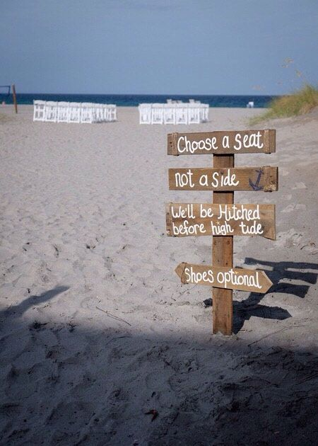 Hey, I found this really awesome Etsy listing at https://www.etsy.com/listing/240427253/beach-wedding-directional-sign-shoes