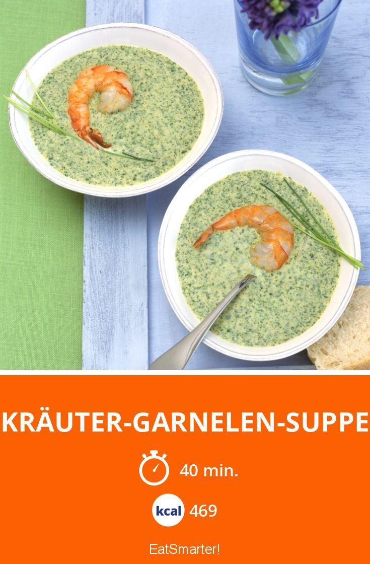 Kräuter-Garnelen-Suppe - smarter - Kalorien: 469 kcal - Zeit: 40 Min. | eatsmarter.de