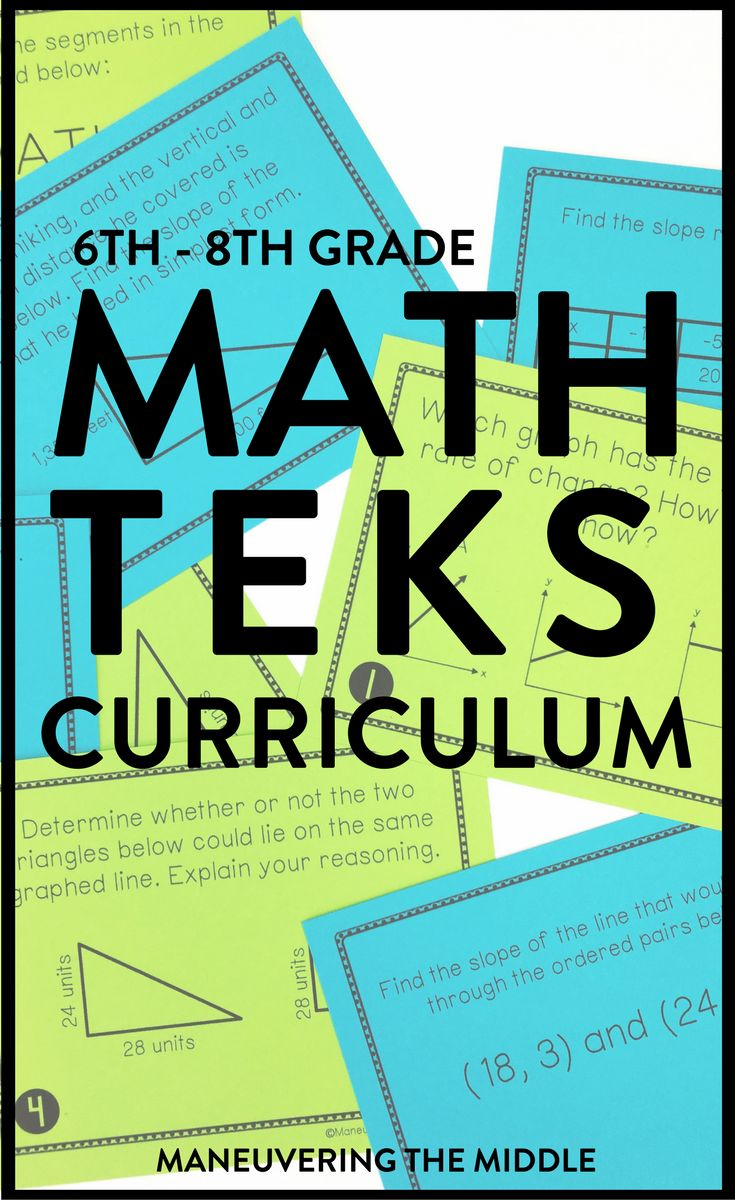Over 72 Math Activities and 100 Lessons for the Middle School Classroom - Aligned to 6th grade, 7th grade, and 8th grade TEKS Math Standards.  Perfect for the Texas classroom!  These math activities and lessons will help students to master those difficult concepts including proportional relationships, real number system, decimal and fraction operations, surface area, volume, statistics, and systems of equations. Pacing guides, assessments, answer keys, and implementation tools are also…