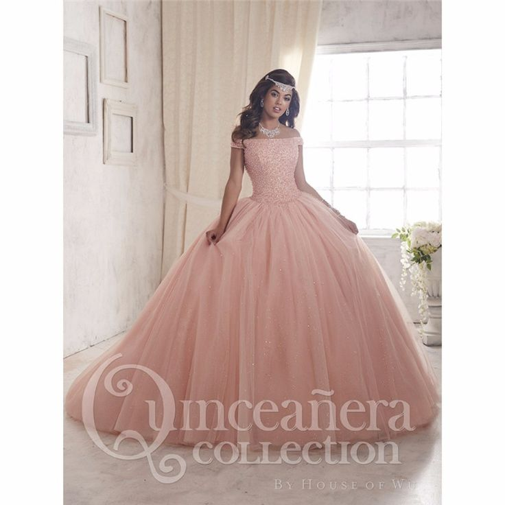 2017 Off The Shoulder Ball Gown Quinceanera Dresses With Beading Sequined Sweet 16 Dresses For 15 Years Vestidos De 15 Anos QD27
