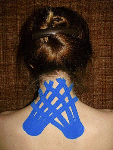 how to put kinesiology tape on your neck