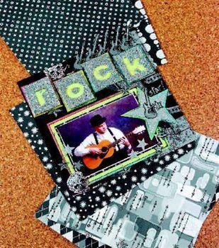 Rock Star Scrapbook Page