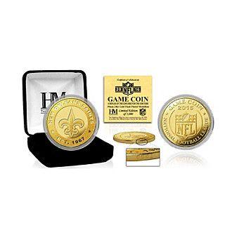 Highland Mint NFL® New Orleans Saints 2016 Gold Game Flip Coin