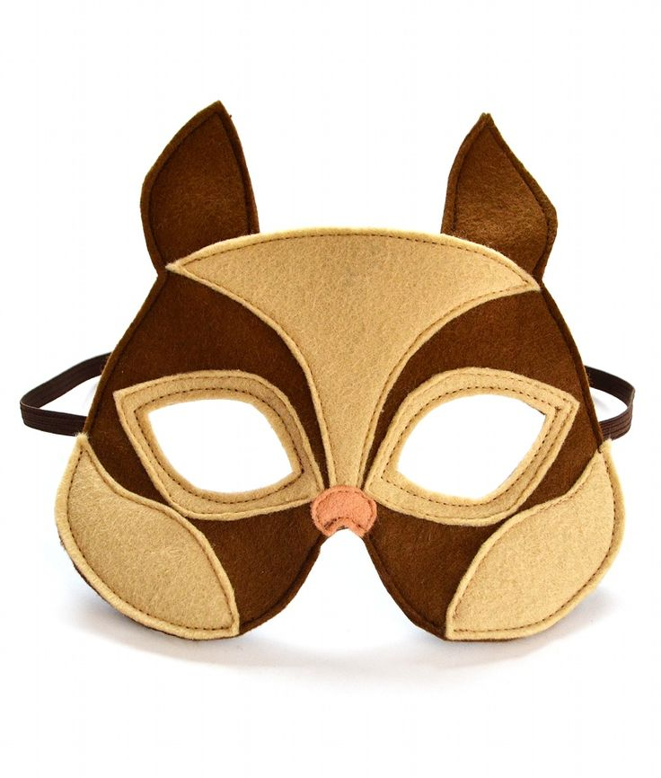 Chipmunk mask for children. Great for dress up plays, halloween and carnival or just to have fun at home.