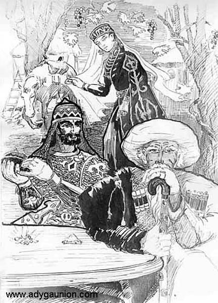 Circassian Art Gallery - Галерея Адыгского Искусства - Son Yüklenenler/Meretuko Davlet - Adygean Legends
