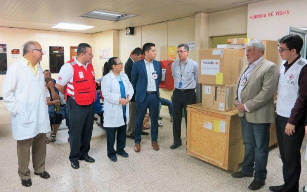 Honduras, Nación y Mundo: Cruz Roja internacional hace donación al HEU