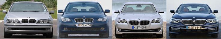5-Series comparison between E39/E60/F10/G30 #BMW #cars #M3 #car #M4 #auto