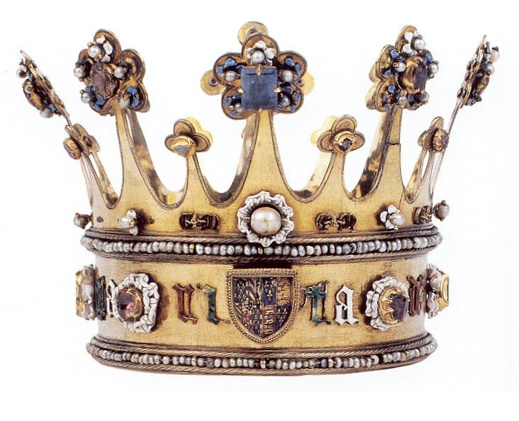 silver gilt crown (circa 1461), worn by Princess Margaret of York at her wedding to Charles the Bold, Duke of Burgundy.