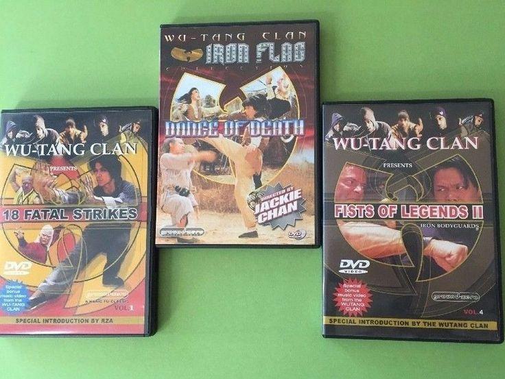 DVD Lot 3 Wu Tang Clan Jackie Chan Marital Arts Action Movies 18 Fatal Strikes +