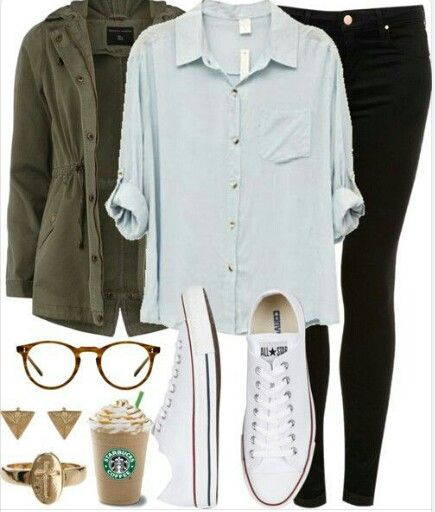 Ugh the starbucks and accesories are not me but I like this casual comfy look