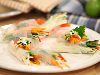 Divertidos rollitos de verduras, super divertidos para los niños, en este regreso a clases prepárales estos ricos rollitos de verduras.