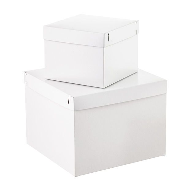 "White Gift Boxes with Lids $3.49 ea.  10""x 6"""