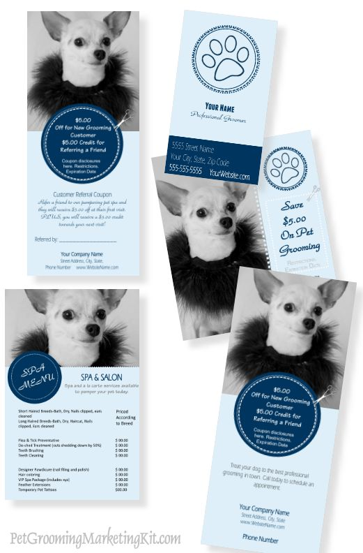 New marketing templates. You can change the colors and the pictures. Add your own text to them.  http://www.petbusinessdashboard.com/original-profit-kit.html