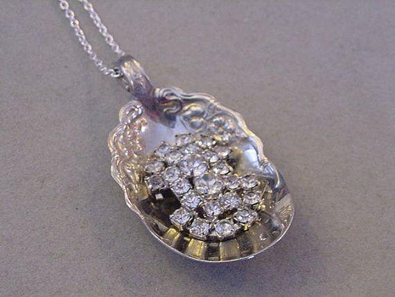 Sugar Spoon Necklace Vintage Silver SPOON Pendant by magiccloset