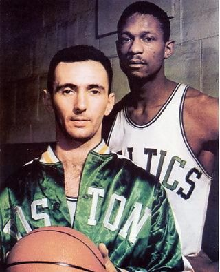 Bob Cousy and Bill Russell