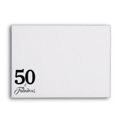 50 and Fabulous Birthday Return Address Printed Envelope - return address gifts label labels cards diy cyo