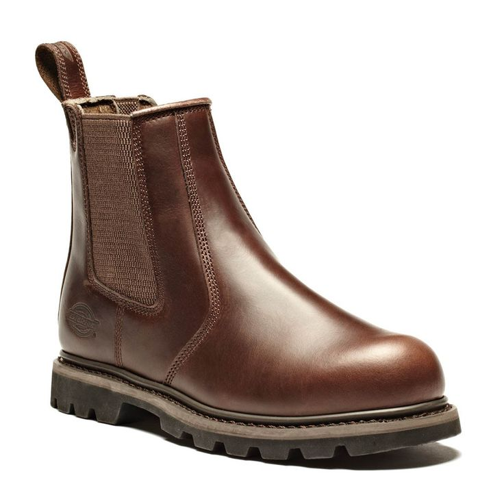 Dickies Goodyear Welted Fife Smooth Brown Leather Safety Dealer Boots