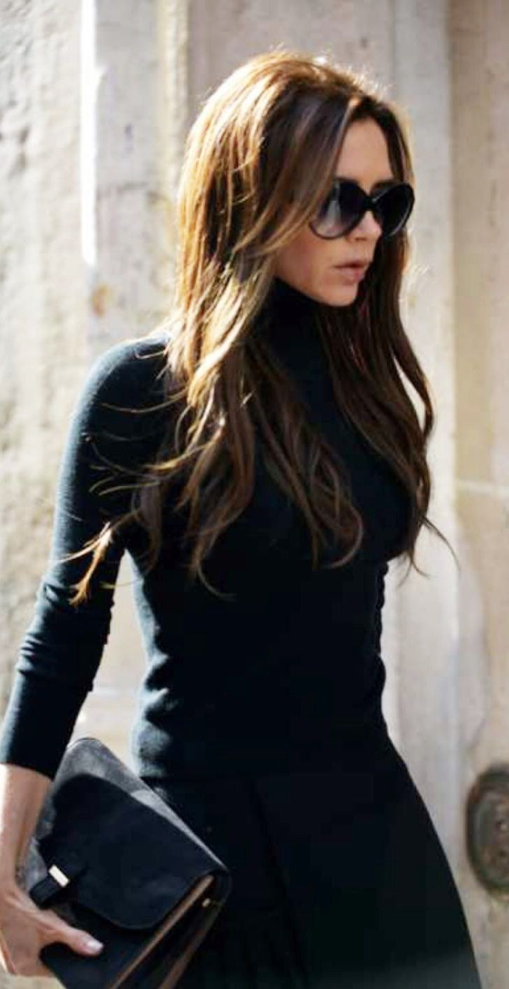 Hair Style Icons : ... Hair Long, Fashion Icons, Victoriabeckham, Long Layered Black Hair