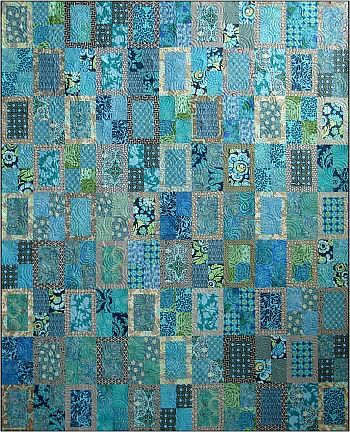 Rear Window, 66x81 inches, with Amy Butler and Kaffe Fassett fabrics.  Quilt kit at Porstmouth Fabric Company
