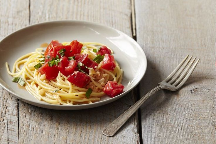 Michael Ruhlman's Pasta with Tomato Water, Basil, and Garlic recipe on Food52