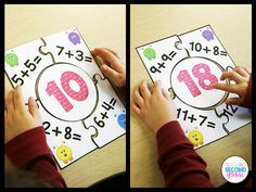Addition Facts Puzzles for 1st and 2nd grade. This set includes 18 different puzzles.  They are great for math centers and early finishers.