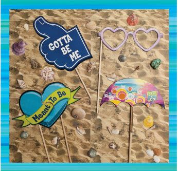 Teen Beach 2 Crafts - Photo Props- Teen Beach 2 Movie Party - Recipes, Crafts, Decorations #TeenBeach2 ad