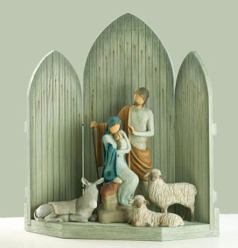 the Willow Tree Christmas Nativity scene - this one i really like!! simple...