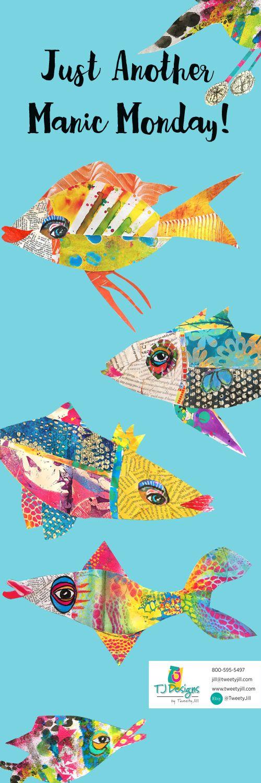 Something's Fishy! Original Collage Art by Jill Haglund: https://www.etsy.com/shop/TweetyJill