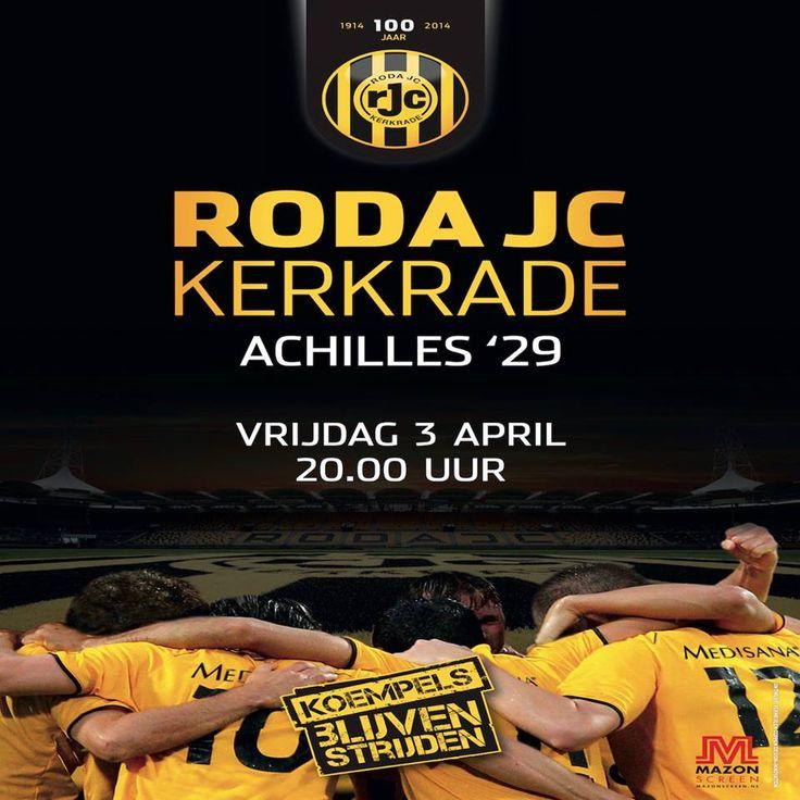Roda JC Kerkrade - Achilles '29 vrijdag 3 april 20.00 uur