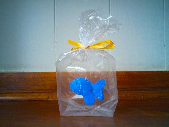 Little Blue fish  The Ultimate Pet Fish in a bag by KAReynoldsLtd