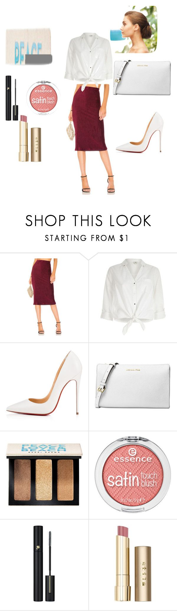 """Going out for Dinner"" by tieriadylandy on Polyvore featuring NBD, River Island, Christian Louboutin, Michael Kors, Bobbi Brown Cosmetics, Lancôme and Stila"