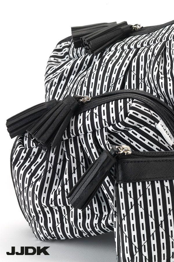 JJDK cosmetic bags - Black and white stripes #cosmeticbag #loveblackandwhite