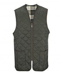 Barbour Men's Quilted Waistcoat / Zip in Liner - Sage Green MLI0001GN91 (A70)