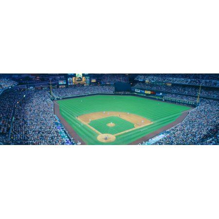 Turner Field at night World Champion Braves Atlanta Georgia Canvas Art - Panoramic Images (36 x 12)