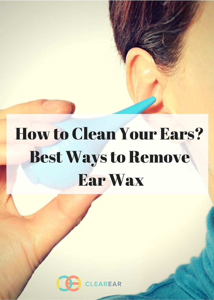 how to safely clean ears at home